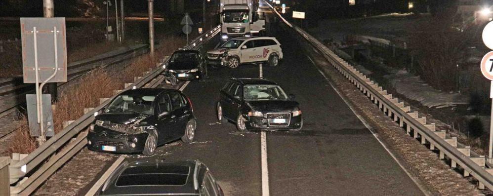 Berbenno, problemi sulla statale per lo scontro tra più auto