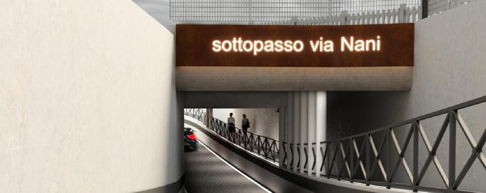 Sottopasso di via Nani, lavori a Sondrio da marzo: «Un'opera attesa»