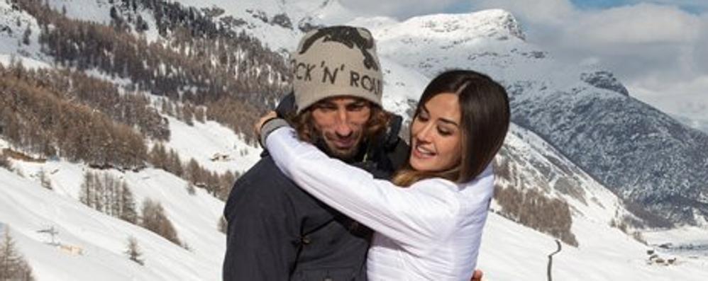 Brumotti e la sua Giorgia, San Valentino sulla neve a Livigno