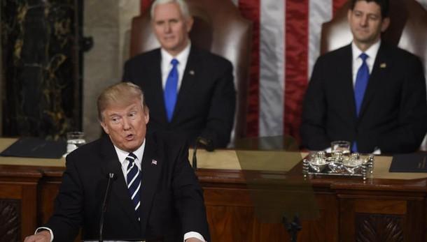 Trump a Congresso: enorme taglio tasse