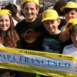 Un milione per il Papa a Monza. «Sondrio c'è»
