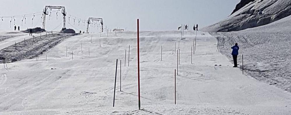 Stelvio, le azzurre di Coppa sulla skiarea riaperta