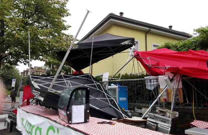 San Giorgio, gli stand devastati dal vento