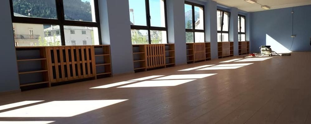 Pronta la nuova palestra alla scuola primaria, la biblioteca in primavera