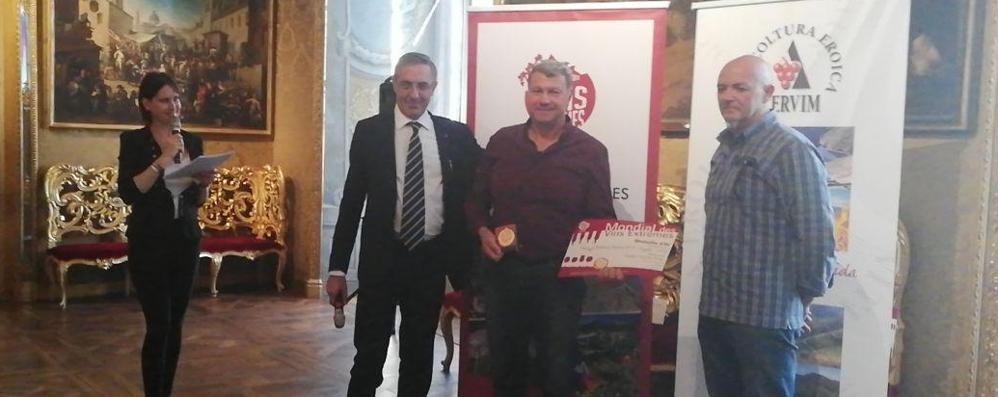 Traona, un riconoscimento d'oro al vino di Piccapietra