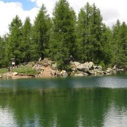 Campodolcino, il lago Azzurro sparito: finisce sul web