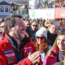 Salvini a Bormio: «Una prova generale  in vista delle Olimpiadi 2026»
