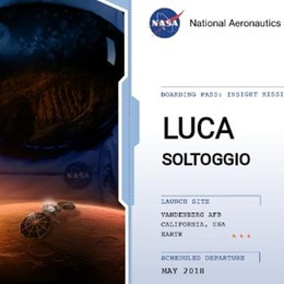 «Così il mio nome è arrivato sul pianeta Marte»
