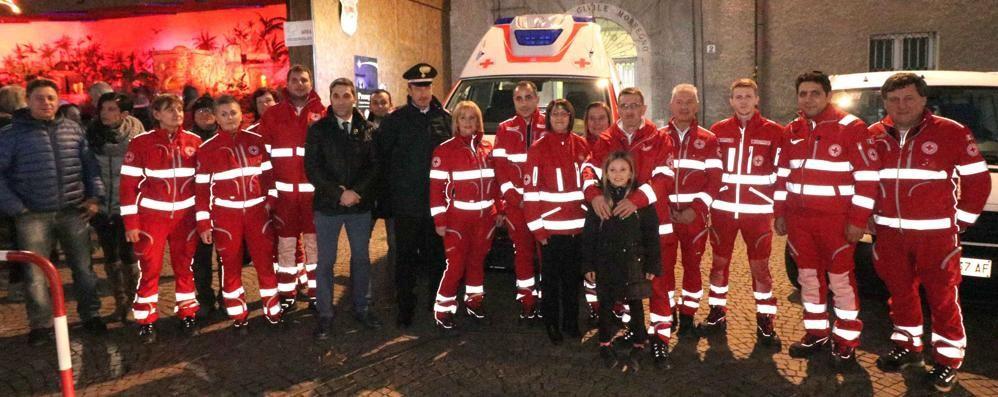 Croce Rossa, inaugurato il presepe  «Un'opera che è di tutta la città»
