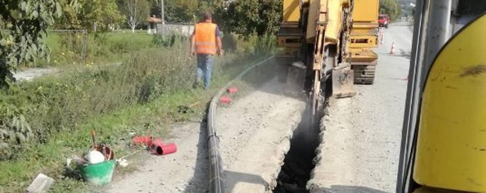Il metano a Paniga, cantiere in corso