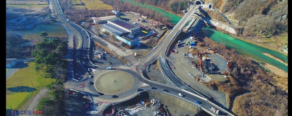 Viaggio con i droni   tra tunnel e cantieri   della nuova Statale 38 Guarda