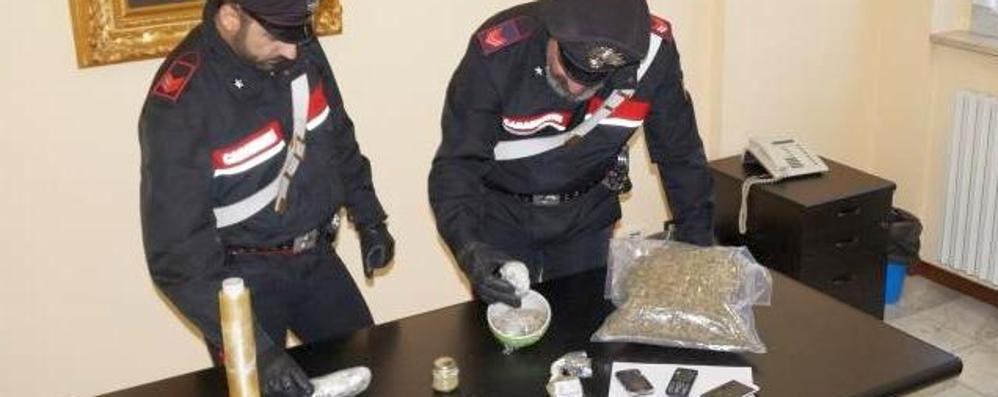 Un chilo di marijuana in auto  Giovane valtellinese in cella