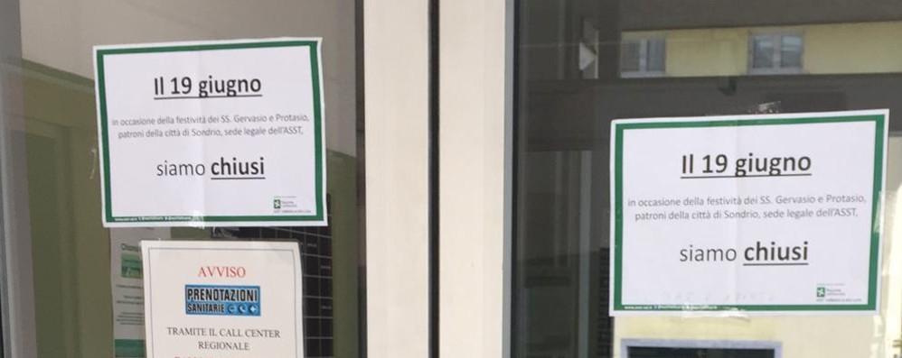 Chiavenna, oggi ospedale chiuso per la festa del patrono: ma è quello di Sondrio
