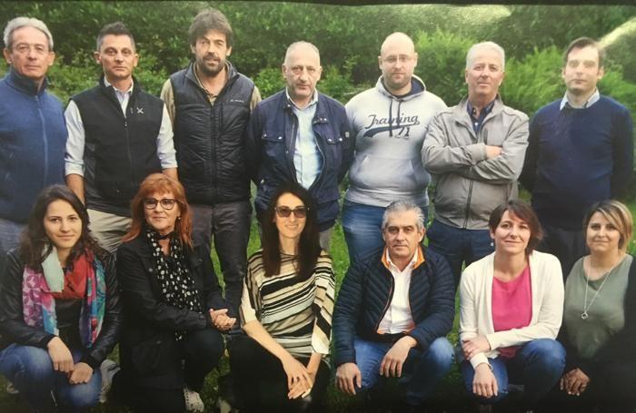 """Graziano Murada con la squadra della lista """"Murada x Albosaggia sindaco"""""""