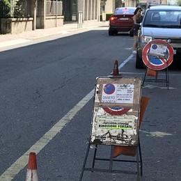 Sondrio, lavori in corso per la fibra ottica  Disagi in strada