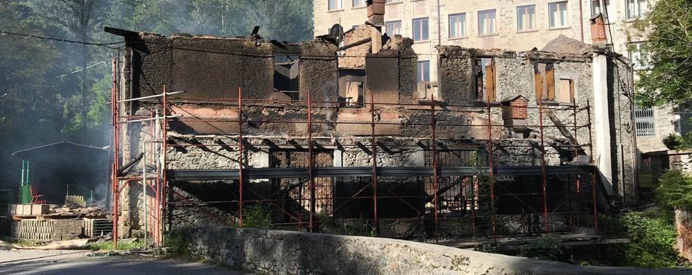 "Val Masino, incendio devasta la ""Taverna"" - Cronaca Val Masino"