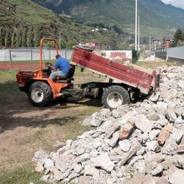 """Sondrio, lavori in corso alla Castellina in vista delle partite in """"D"""""""