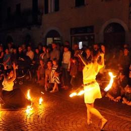 Notte di San Lorenzo,al lume di candela  Chiavenna è magica