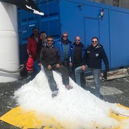 Allo Stelvio la neve è un prodotto hi-tech