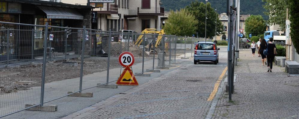 Morbegno, cantiere viale Ambrosetti  Meno disagi per gli studenti