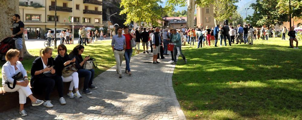Chiavenna, inaugurato il parco: un progetto nato dal confronto cittadino