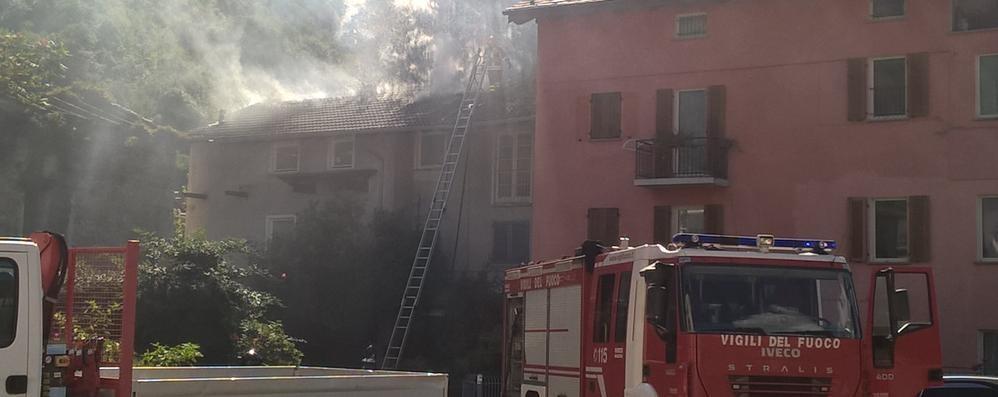 Brucia un tetto a Regoledo: «Tutta colpa dei calabroni»