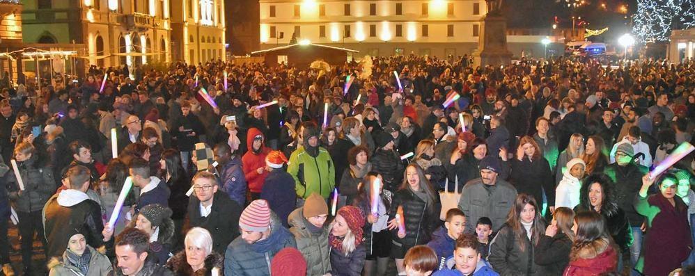 Sondrio, una pista da ballo in piazza Garibaldi per salutare il 2019