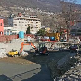 Sondrio, nuovo tunnel in via Nani  Lavori a pieno ritmo e il cantiere si allarga