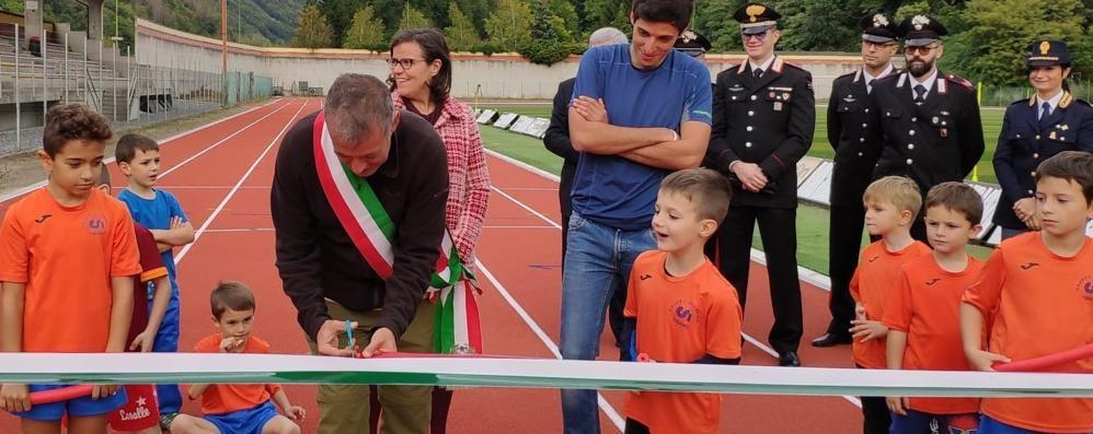 Inaugurata la pista,  genitori e bambini  insieme in pista