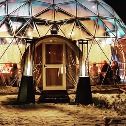Mercatini di Albosaggia, quante novità  Due igloo riscaldati attendono gli ospiti