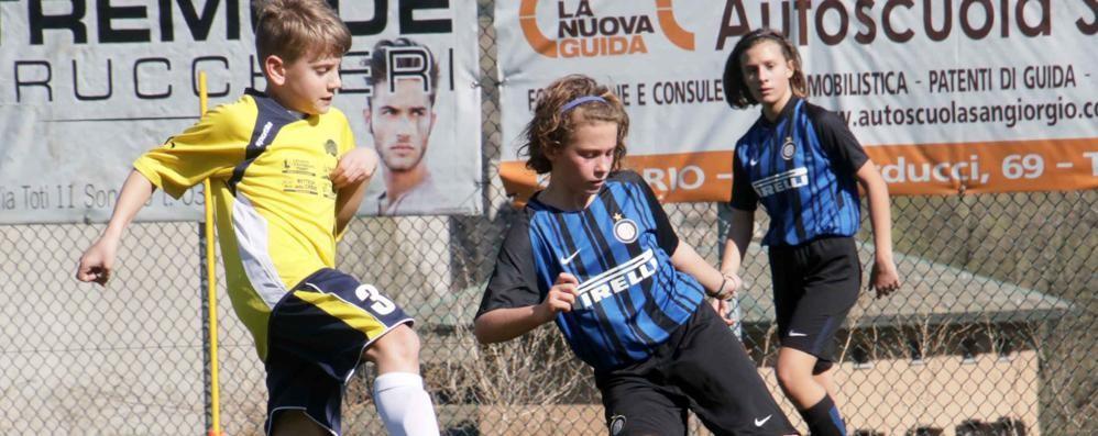 Calcio giovanile, Albosaggia applaude l'Inter e gli Esordienti