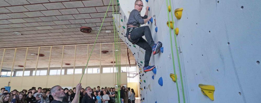 La nuova palestra di arrampicata a Sondrio: il Donegani in vetta