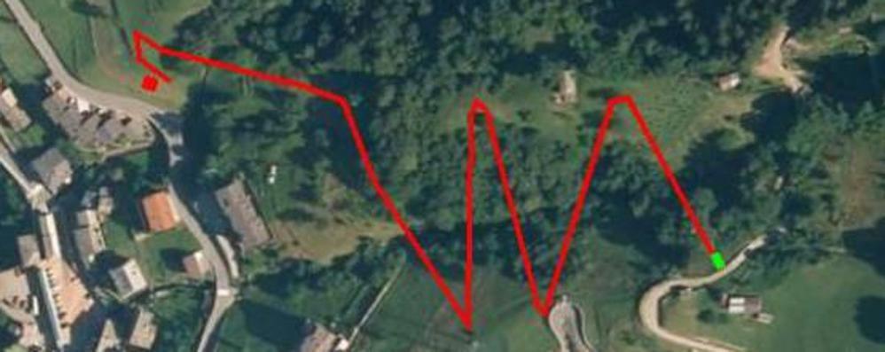 A zig zag tra prati e boschi, ma su un carrello e in discesa