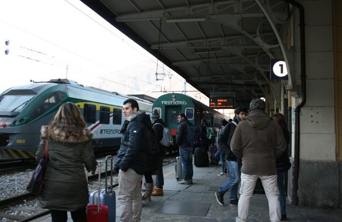 Il danneggiamento era avvenuto nella stazione di Tirano (foto d'archivio)