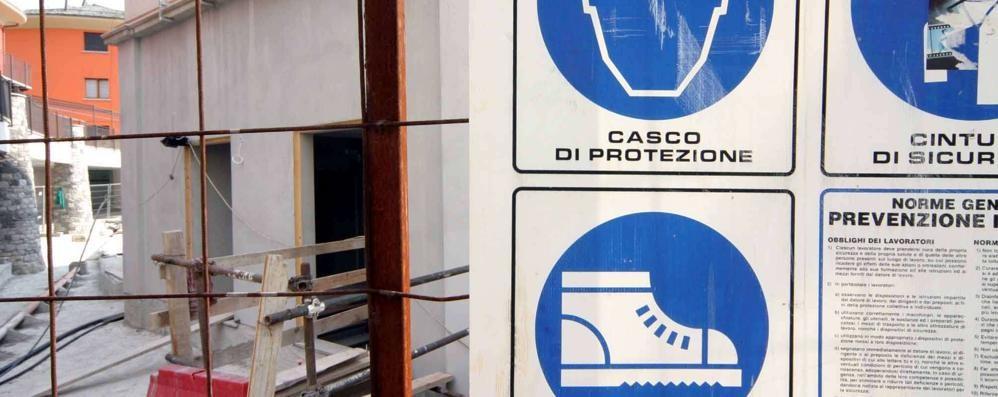 Un infortunio ogni duecento lavoratori in provincia di Sondrio