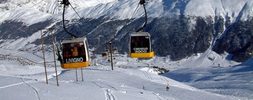 Livigno, sciatrice tedesca cade sulla pista  Ricoverata a Coira per i traumi