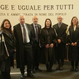 Tre nuovi magistrati a Sondrio: «Organico al completo»