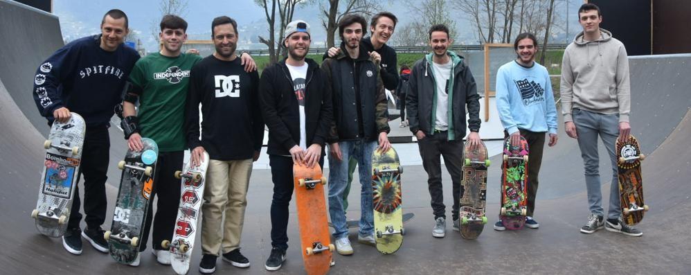 Sondrio, il nuovo Skate Park è un'oasi per i giovani: «Ora abbiatene cura»