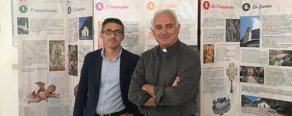 Frana di un anno fa a Gallivaggio: i fedeli in preghiera