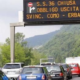 Superstrada 36 chiusa  Delirio del traffico nel Lecchese