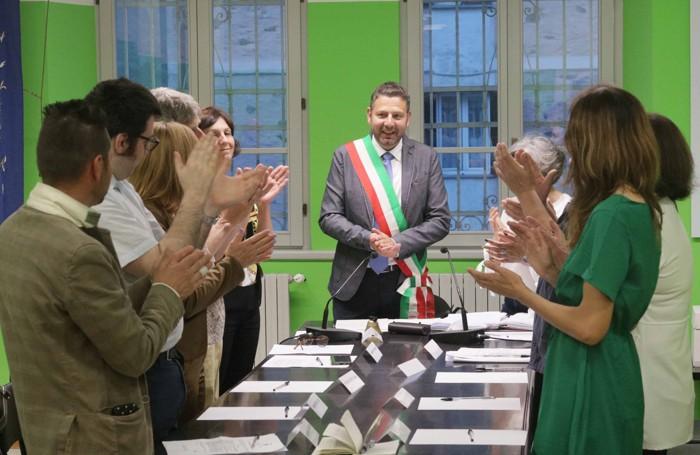 Applausi al sindaco Doriano Codega, rieletto a Colorina