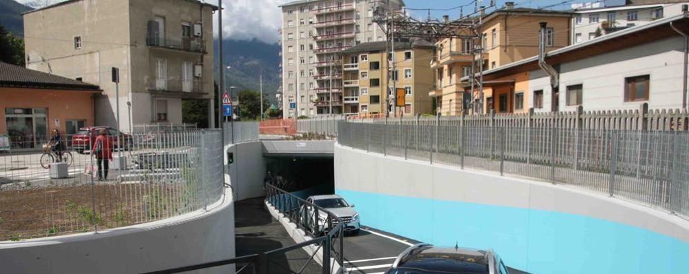 Tunnel di via Nani a Sondrio, stop alle auto  Lavori da domani fino a venerdì