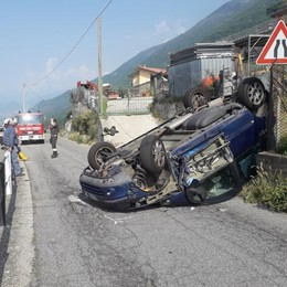 Incidente a Mello: «Strada pericolosa»
