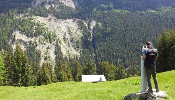 La frana del Ruinon torna a far paura: chiusa la strada per Santa Caterina Valfurva