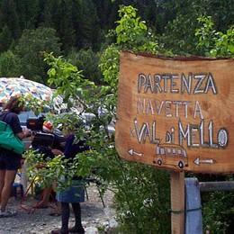 Val di Mello, riparte il bus navetta e al Gatto Rosso ponte chiuso