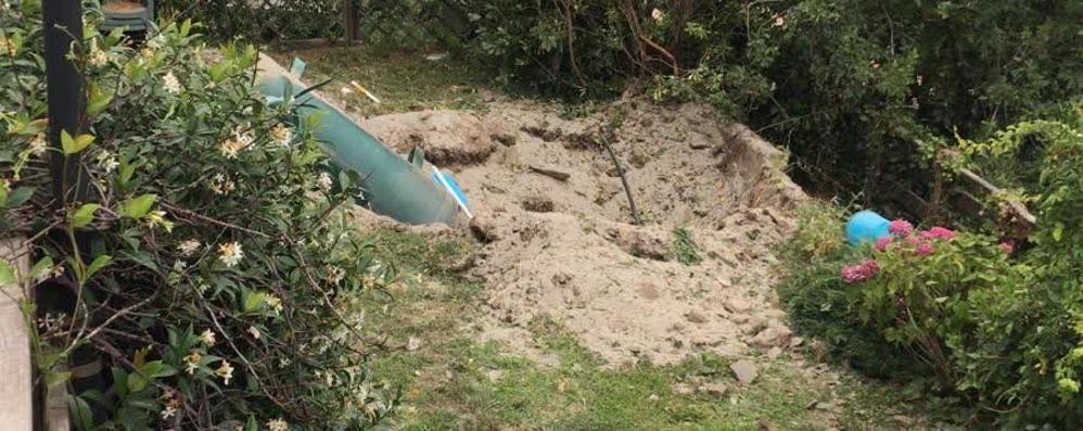 Gravedona, tragedia in giardino  Scoppia serbatoio Gpl, un morto