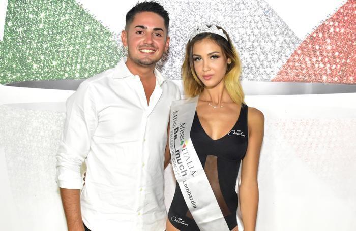 "La vincitrice con Sebastian Gazzarini de ""Le Iene"""