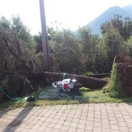 Vento e pioggia violenti  Casa evacuata a Dazio
