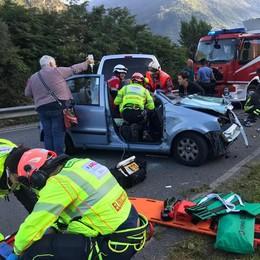Terribile incidente sulla provinciale  Un uomo versa in gravi condizioni