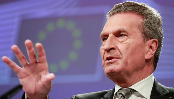 Governo: Oettinger, dall'Ue ci sarà più disponibilità